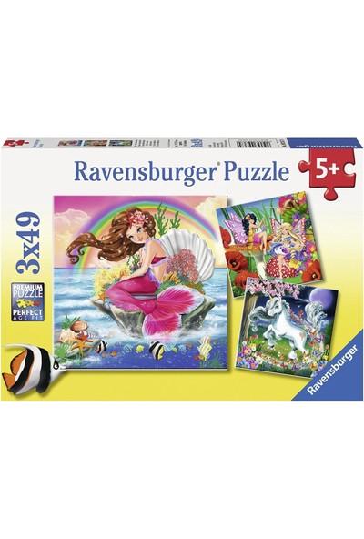 Ravensburger 3x49 Parça Puzzle - Hayali Dostlar