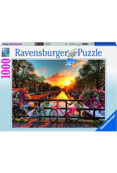 Ravensburger 1000 Parçalı Puzzle Amsterdam'da Bisiklet-196067