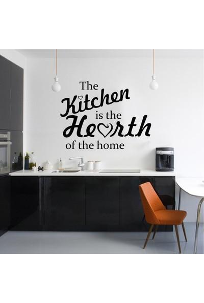 The Kitchen is the Hearth Duvar Sticker