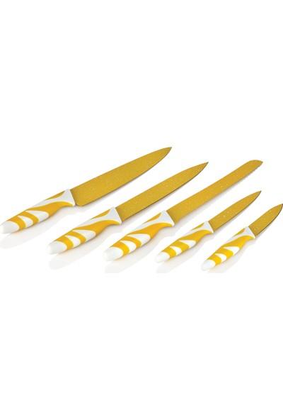 Güral Porselen Home 5 Parça Desenli Bıçak Seti