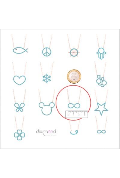 Diamood Jewelry Gümüş Firuze Taşlı Sonsuzluk Kolye