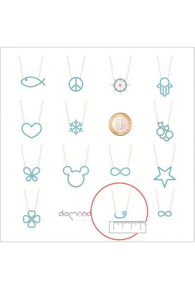Diamood Jewelry Gümüş Firuze Taşlı Vav Kolye