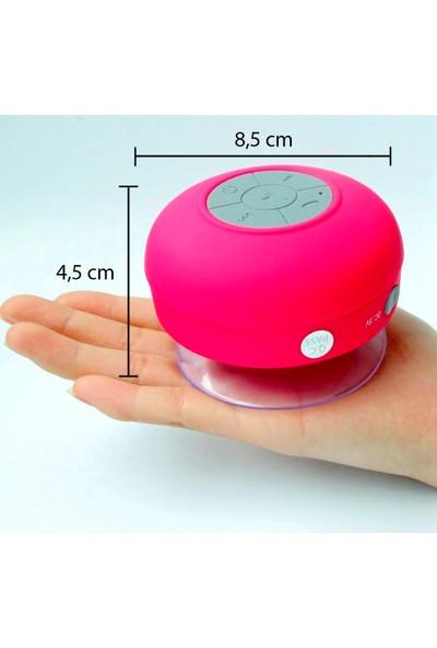 Diwu Su Geçirmez Mini Bluetooth Duş Hoparlörü (Pembe)