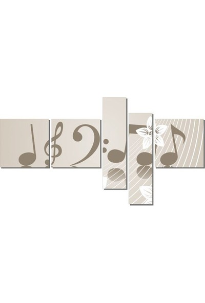 Dekor Sevgisi Çiçekli Notalar 2 Tablosu 110x208 cm