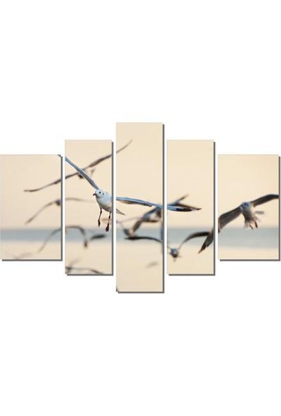 Dekor Sevgisi Uçan Martılar Tablosu 84x135 cm