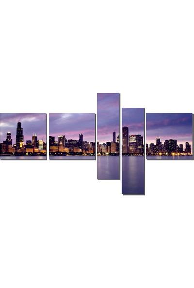 Dekor Sevgisi Michigan Gölü Tablosu 110x208 cm