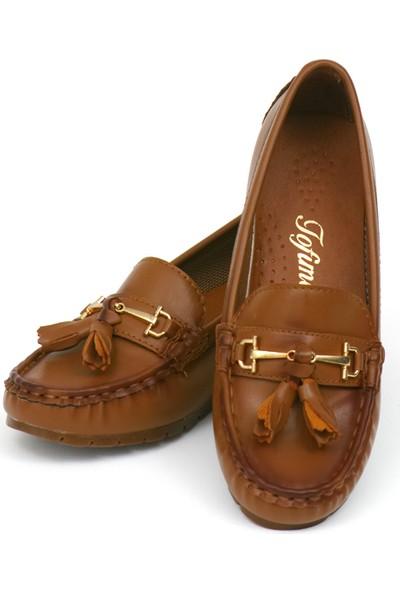 Zerrin Ayakkabı Taba Bıyık Toka Kadın Ayakkabı-190573