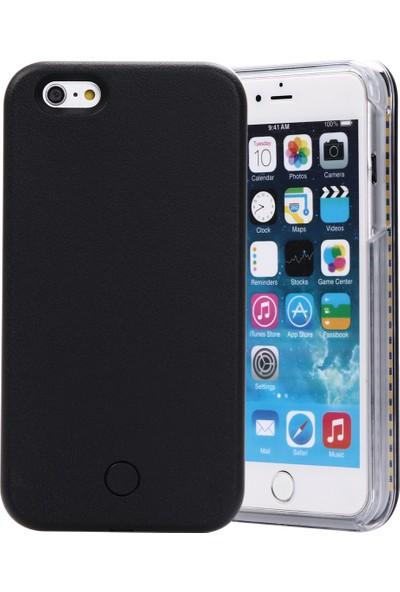 Komo Design iPhone 6 PLUS Siyah Işıklı Selfie Kılıfı