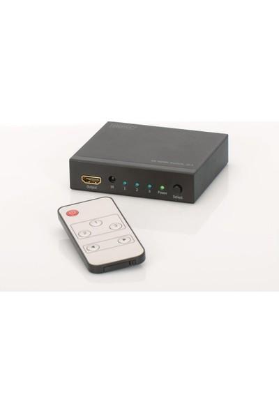 Dıgıtus 4K Hdmı Switch 3X1, Supports 4K2K,3D Video Formats, İncl. Remote Control Ds-48304