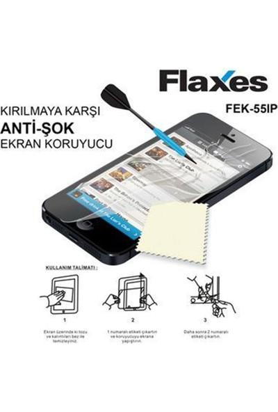 Flaxes Fek-55Ip Iphone 5 Uyumlu Anti Şok Ekran Koruyucu Fek-55Ip
