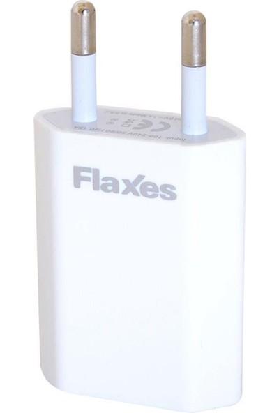 Flaxes Fxa-600B 5V 1A Ev Şarjı Gsm Uyumlu 1 Usb Beyaz