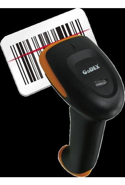 Godex 1D Tek Çizgili Lazer Barkod Okuyucu Gs220