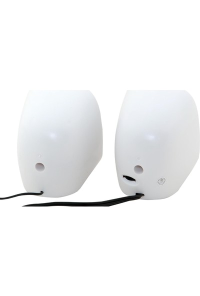 Classone 1+1 Usb 2.0 Kablolu Hoparlör Beyaz/Kırmızı Renk K25-Wr