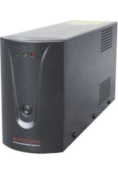 Makelsan 650Va,Line-İnteractive,1 Adet 12V 7Ah Akü,5/12 Dk,Ups,Siyah,Lion Modeli Mu00650L11Ea005