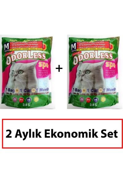 ODORLESS MICRO Kedi Kumu 2 Aylık Ekonomik Set (2 adet 3,8 L paket)