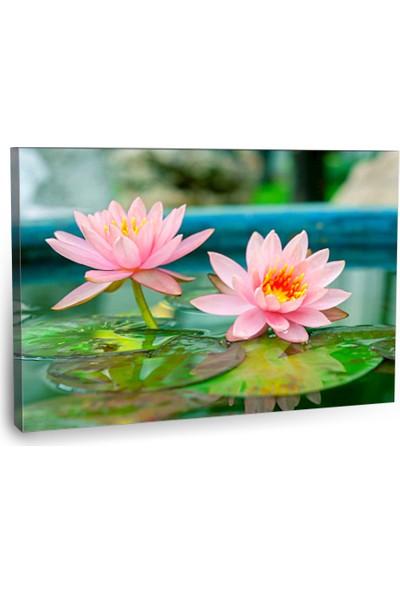 Fotografyabaskı Pembe Lotus Çiçeği Tablo 75 Cm X 50 Cm Kanvas Tablo Baskı