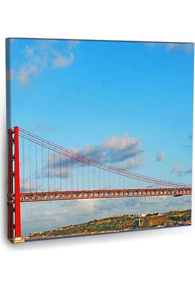 Fotografyabaskı Salazar Köprüsü Portekiz 70 Cm X 70 Cm Kanvas Tablo Baskı
