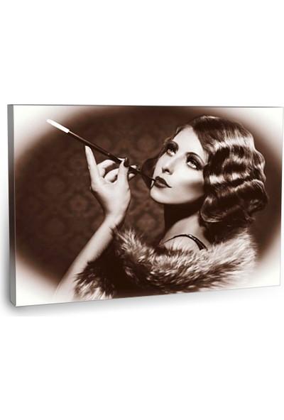 Fotografyabaskı Retro Kadın Tablosu 75 Cm X 50 Cm Kanvas Tablo Baskı