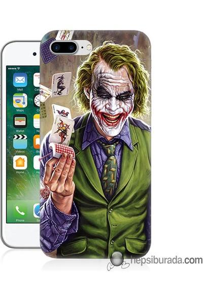 Teknomeg iPhone 7 Plus Kılıf Kapak Kartlı Joker Baskılı Silikon