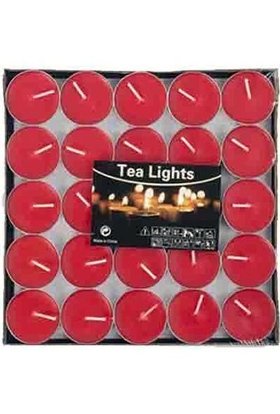 Tvshopmarket 50 Li Kırmızı Tealight Mum