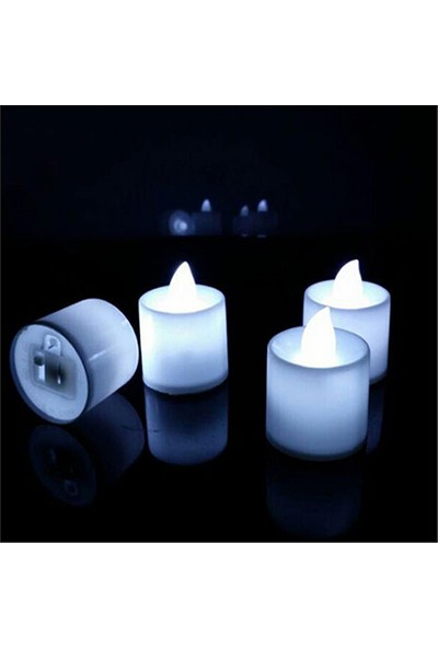 Tvshopmarket Led Tea Light Beyaz Işık