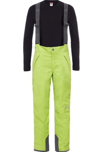 The North Face B Snowquest Suspender Pant Erkek Çocuk Pantolon Siyah