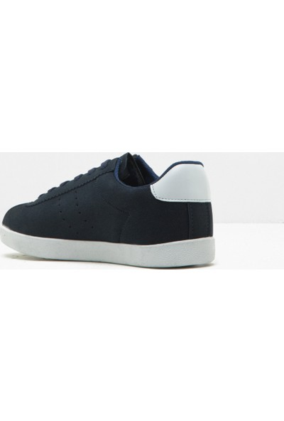 Koton Kadın Bağcıklı Spor Ayakkabı Lacivert - Mavi