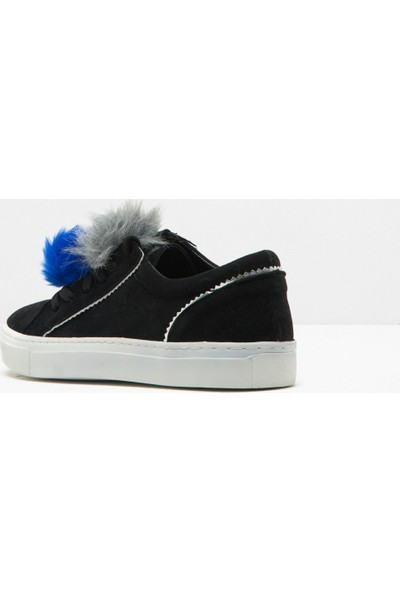Ole Kadın Bağcıklı Spor Ayakkabı Siyah