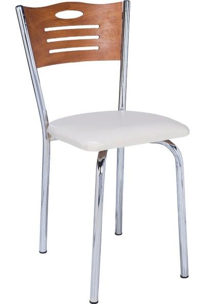 Ak Sandalye Aras Ceviz Eko Sandalye