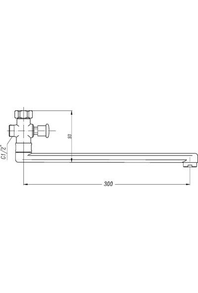 Penta G4 Uzun Su Çıkış Borusu (30 cm)