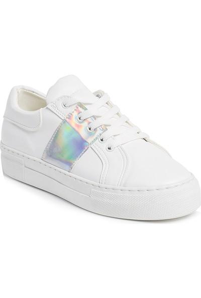 Ayakkabı - Beyaz Gümüş - Zenneshoes