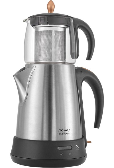 Arzum AR3003 Çaycı Klasik Cam Demlikli Çay Makinesi