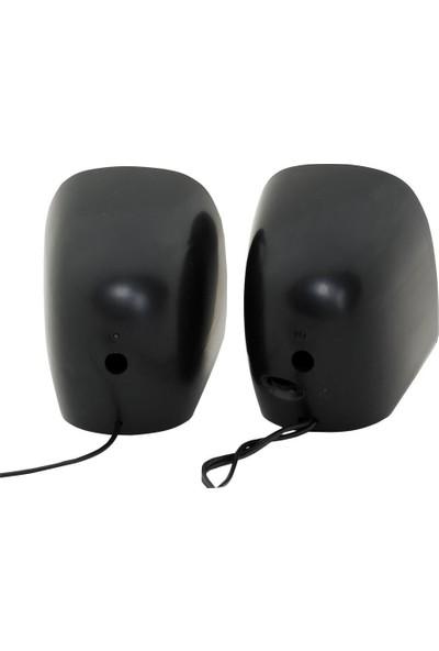 CLASSONE 1+1 USB 2.0 6W Kablolu Hoparlör Siyah/Kırmızı Renk K25-BR