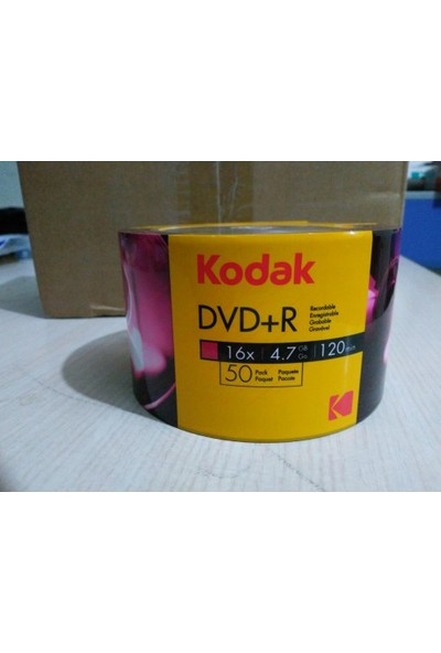 Boş Dvd Kodak Dvd+R 16X 4.7 Gb 50'Li Value Pack