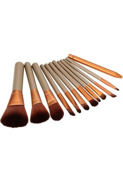 ShiboWavy 12 Parça Bambu Makyaj Fırça Seti