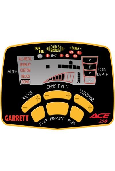 Garrett Ace 250İ W/ 6,5X9 Performans Başlıkla)