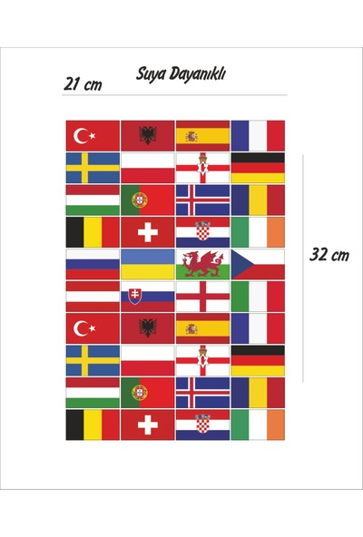 StickerMarket Ülke Bayrakları Sticker Seti