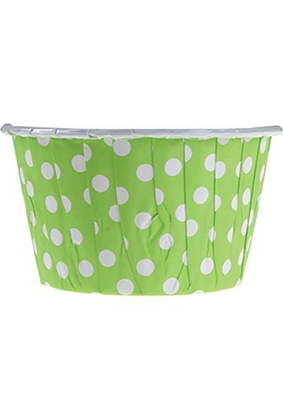 KullanAtMarket Yeşil Puantiyeli Muffin Kek Kapsülü 50li - 50 Adet