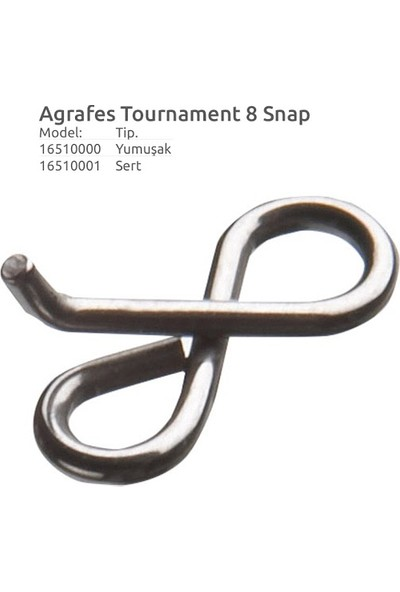 Daiwa Tournament Agrafe Snap 8 Klips Sert (Tough) 6 Kg