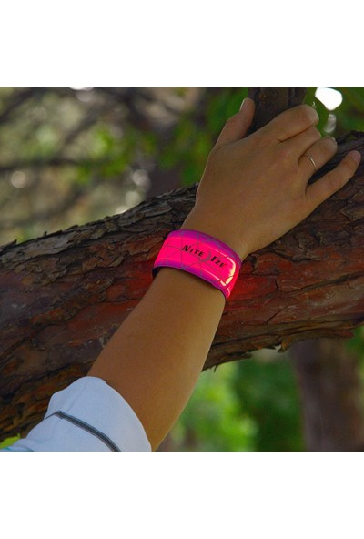 Nite Ize SlapLit LED Işıklı Bileklik-Neon Pembe