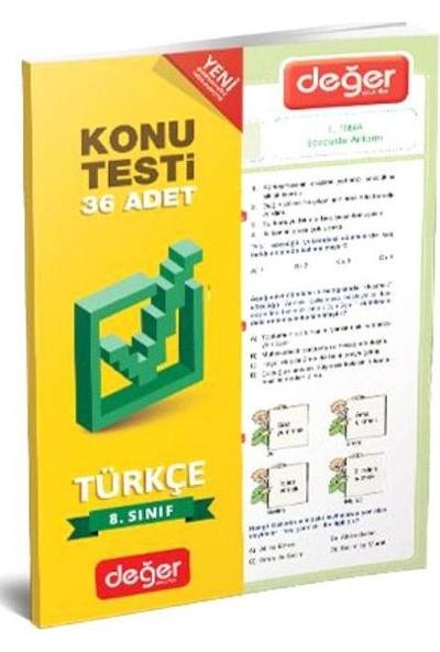8. Sınıf Konu Testi Türkçe