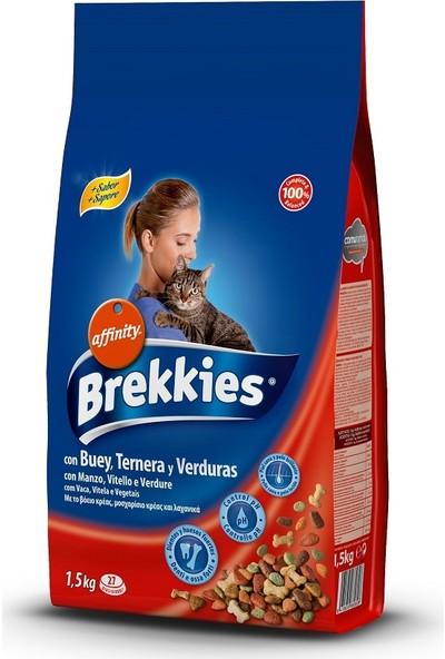 Brekkies Mix Beef Yetişkin Biftekli Kedi Maması 1,5 Kg