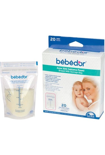 Bebedor 679 20li Süt Saklama Poşeti