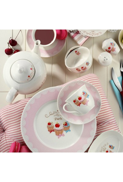 Kütahya Porselen 33 Parça 6 Kişilik Porselen Kahvaltı Takımı 8362 Desen