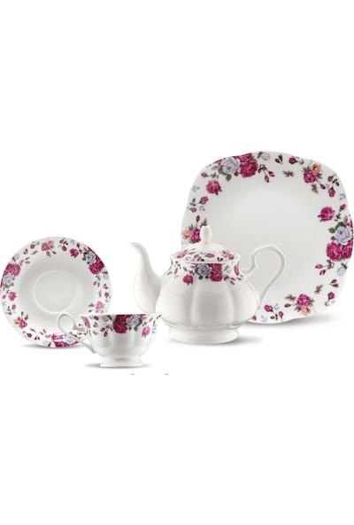 Kütahya Porselen Bone China 44 Parça 6 Kişilik Porselen Kahvaltı Takımı