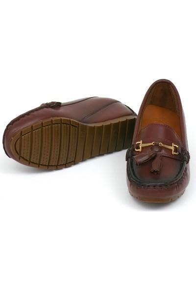 Zerrin Ayakkabı Bordo Bıyık Toka Bayan Ayakkabı 190573