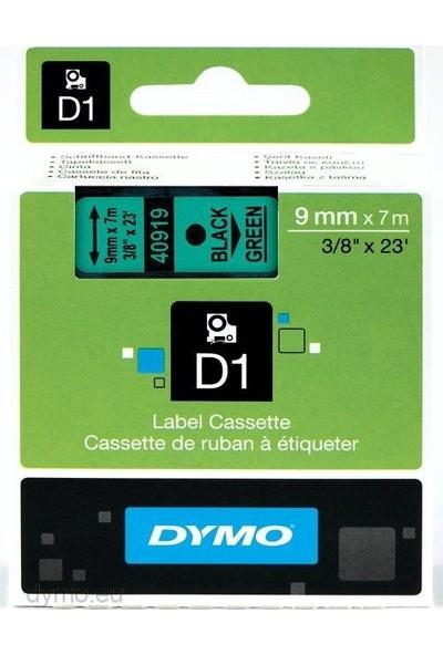Dymo D1 Yedek Şerit 9mmx7mt Yeşil/Siyah(40919) S0720740
