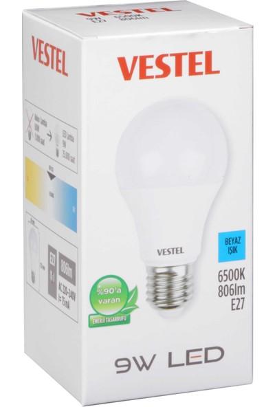 Vestel Led Ampul E27 9W 806LM 65K Beyaz