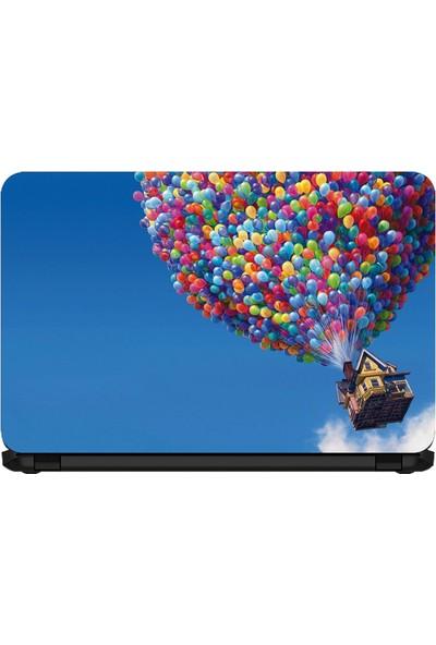 15.6 INC Notebook Sticker Balonlarla Uçan Ev