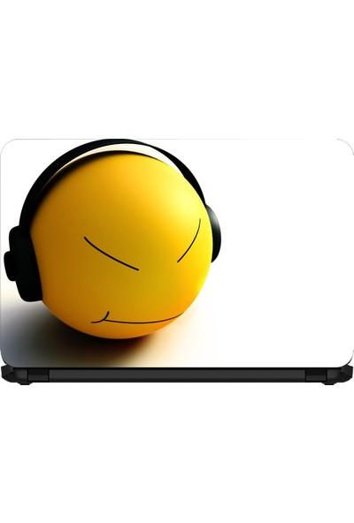 15.6 INC Notebook Sticker Müzik Dinleyen Smile